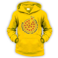 Pizza Percentage Kids Hoodie