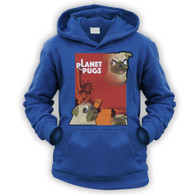 Planet of the Pugs Kids Hoodie