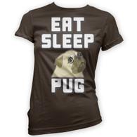 Eat Sleep Pug Womans T-Shirt