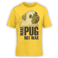 Make Pug Not War Kids T-Shirt