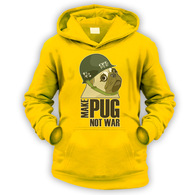 Make Cpt Pug Not War Kids Hoodie