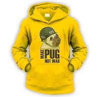 Make Cpt Pug Not War Kids Hoodie