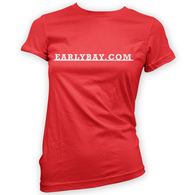 EarlyBay.com Classic Badge Script Woman's T-Shirt