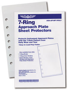 ASA 7-Hole Sheet Protector 10 pk. (ASA-AP-SP-7POLY)-SkySupplyUSA