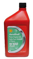 Aeroshell W100 Plus Single Grade Ashless Dispersant Engine Oil (Quart) AeroshellW100Plusquart