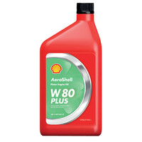 Aeroshell W80 Plus Single Grade Ashless Dispersant Engine Oil (Quart)  (AeroshellW80Plusquart)-SkySupplyUSA