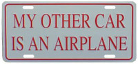 License Plate - My other Car is an Airplane