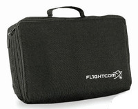 Flightcom Black Single Headset Bag
