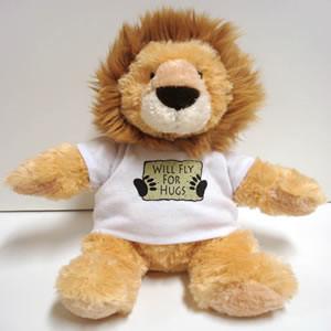 Lion w/Fly for Food T-Shirt Stuffed Animal  (HungryLion)-SkySupplyUSA