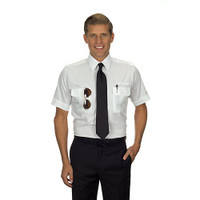 Pilot Shirt Short Sleeve Tall (White)  57440-SkySuppyUSA