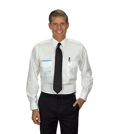 Commander Long Sleeve Shirt (White) 57271-SkySupplyUSA