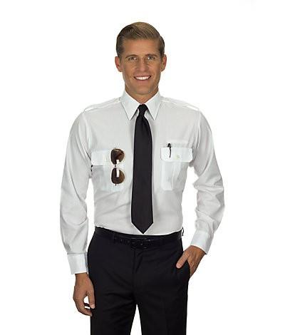 Pilot Long Sleeve Shirt (White) 57361-SkySupplyUSA