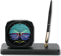 Aviation Clock/ Desk Pen Set - Horizon