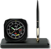 Aviation Clock/ Desk Pen Set - VOR