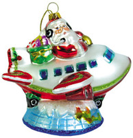 Santa on World Christmas Ornament OR-SW