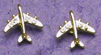Gold Crystal Jet Earrings JEP-CJG