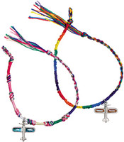 Friendship Bracelet w/ariplane charm JB-FS