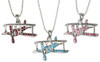 Crystal Bling Biplane Necklace JN-CBP