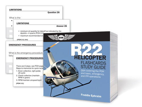 ASA R22 Helicopter Flashcards Study Guide (ASA-CARDS-R22)-SkySupplyUSA