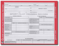 Gleim Sport Pilot Training Record book  (G-SP-TR)-SkySupplyUSA
