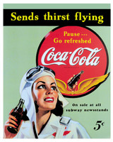 Coca-Cola Aviatrix Tin Sign TN-CG