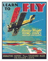Learn to Fly Tin Sign TN-LF