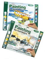 Nostalgic Biplane Paint By Number CR-PNNP (THIS IS ONLY THE NOSTALGIC BIPLANE PAINT BY NUMBER, THE TOP ONE)