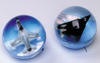 Two Airplane Bouncy Balls FM-BB