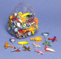 Five Tiny Aviation Themed Plastic Aircraft FM-PAA