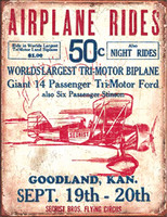Airplane Rides Tin Sign TN-AR