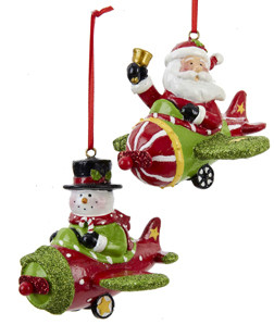 Santa & Snowman Ornament OR-S&S