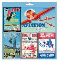Vintage Aviation Sign Magnet Set (includes 4) MA-VM