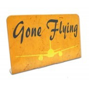 Gone Flying Table Sign