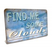 Find me some Clouds table sign