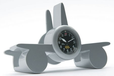Airplane Business Card Holder Clock CARD HOLDER CLOCK