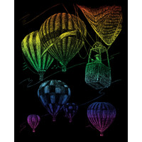 Hot Air Balloon Engraving Art CR-HAB