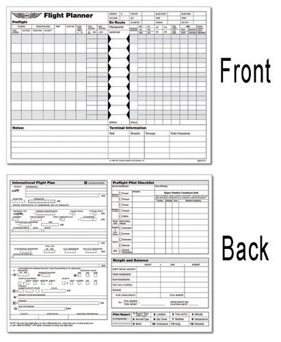 Asa Flight Pad Planner With Icao Plan Format