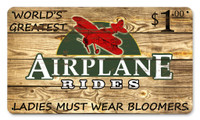 Vintage Metal Sign - Airplane Rides $1 SIGN-AIRPLANE RIDES
