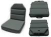 Aero Phoenix Seat Cushion triple view in gray / SkySupplyUSA