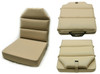 Aero Phoenix Seat Cushion triple view in tan / SkySupplyUSA