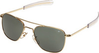American Optical 52mm Gold Polarized Polycarbonate Original Pilot Sunglasses AO30004