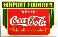 Coke Airport Porcelain Magnet  Magnet-Coke-Arpt