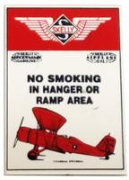 No Smoking In Hangar Porcelain Magnet Magnet-No Smoke