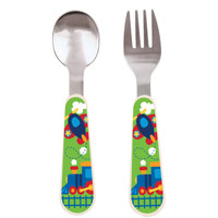 Airplane Toddler Spoon & Fork Set Airplane S&F
