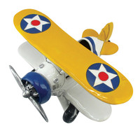 Ceramic Classic Airplane Bank Bi-Plane Bank