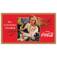 "Coke ""Work Refreshed"" Beauty Sign  Sign-Coke-Beauty"