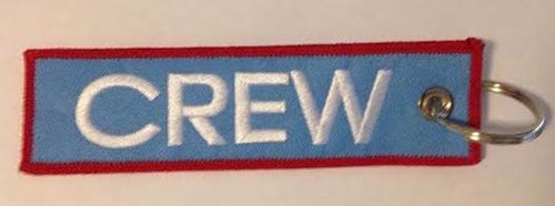 """""""Crew"""" Red & Blue Embroidered Keychain KCE-Crew-RB"""