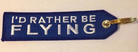 """I'd Rather Be Flying"" Embroidered Keychain KCE-IRBF"