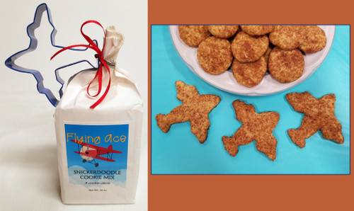 Snickerdoodle Cookie Mix & Airplane Cookie Cutter Cookie Combo-Snick