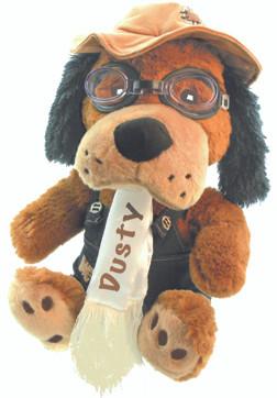 Dusty the Dog Pilot Stuffed Dog SA-DUSTY